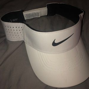 White Nike Dri-fit Visor